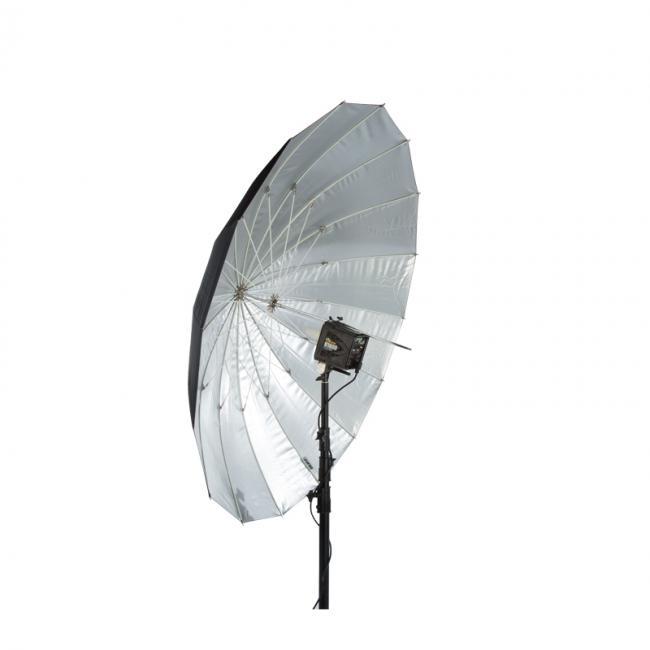 64 soft silver PLM umbrella angled