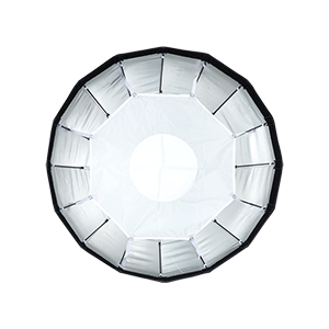 24 Foldable Silver Beauty Dish with Inner Reflective Panel