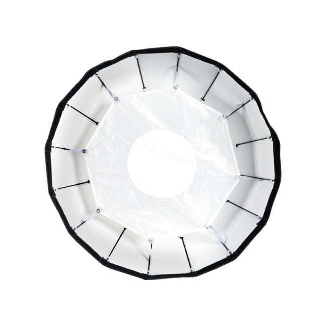 24 White Foldable Beauty Dish with Inner Reflective Panel