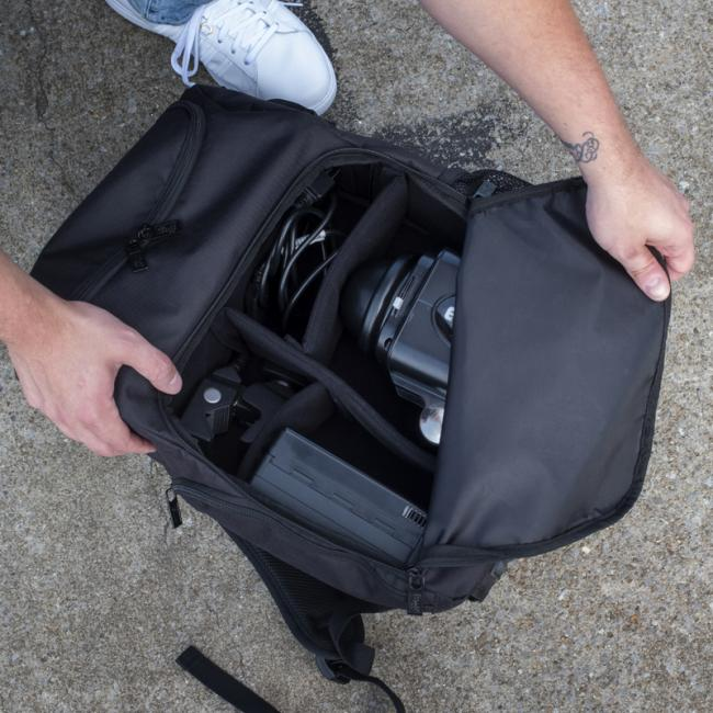 Main compartment of Paul C. Buff, Inc. Backpack
