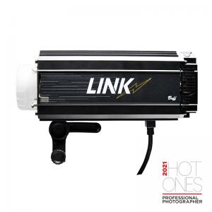 LINK flash unit side view with AC power