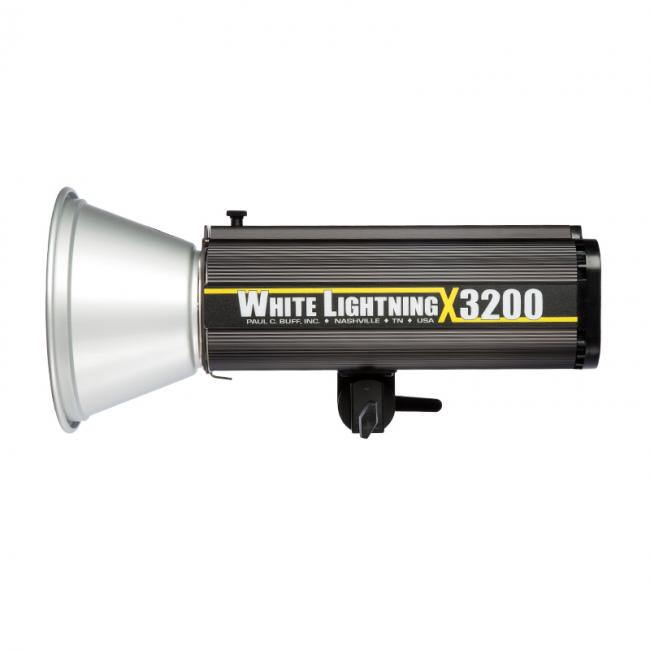 white lighting x3200 with reflector