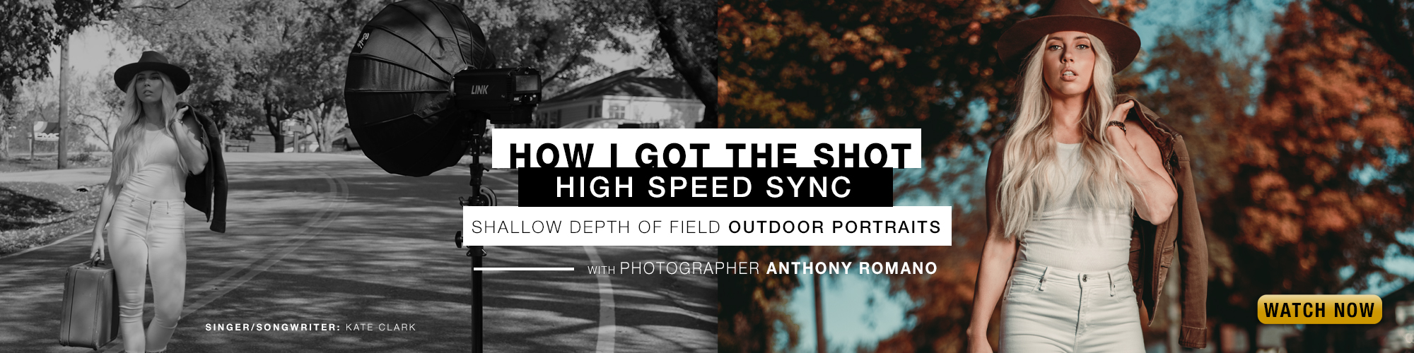Our marketing manager Anthony Romano created some shallow depth of field portraits outdoors using high speed sync